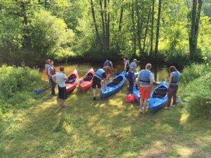 Plaukimas baidarėmis Ūlos upe